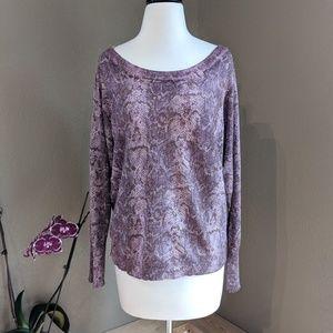 INC purple metallic sweater